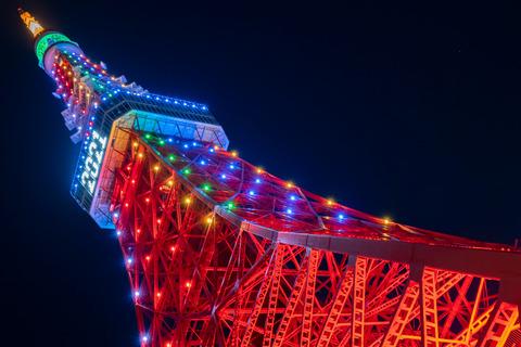 東京タワーの虹色ライトアップを観て思った事・・